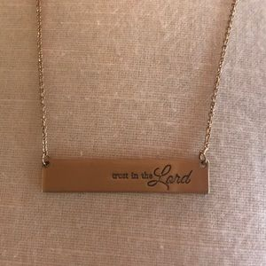 """""""Trust in the Lord"""" bar necklace"""